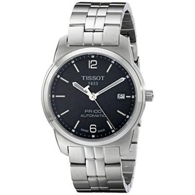 ティソ Tissot 腕時計 メンズ 時計 Tissot Men's T0494071105700 PR 100 Black Automatic Dial Watch