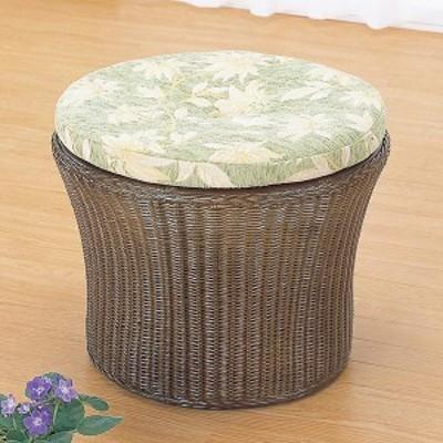 ラタンスツール 座布団付 椅子 籐家具 高さ40cm( 送料無料 椅子 イス チェア アジアン )