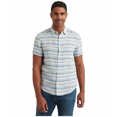 ラッキーブランド シャツ トップス メンズ Short Sleeve San Gabriel One-Pocket Shirt Blue/White Stripe