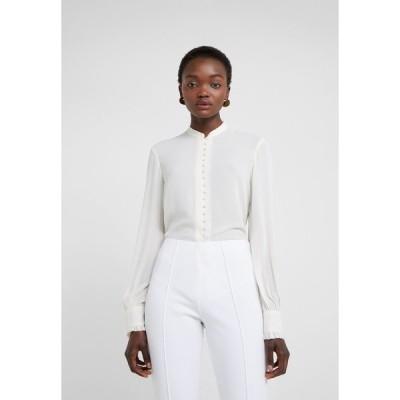 フィリッパコー シャツ レディース トップス SHEER BUTTON BLOUSE - Button-down blouse - cream