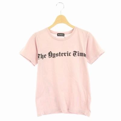 【中古】ヒステリック Hysteric 半袖 Tシャツ ガールプリント F ピンク /HS ■OS レディース 【ベクトル 古着】