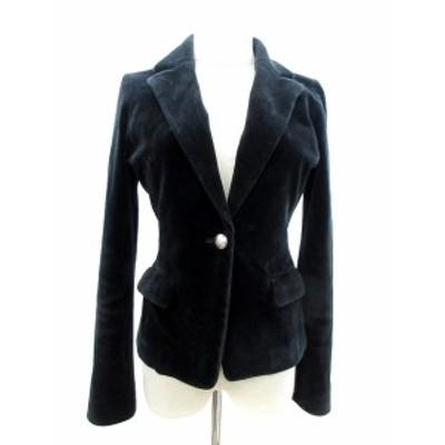 【中古】プロポーション ボディドレッシング PROPORTION BODY DRESSING ジャケット テーラード 総裏地 ベロア 2 黒 ブラック