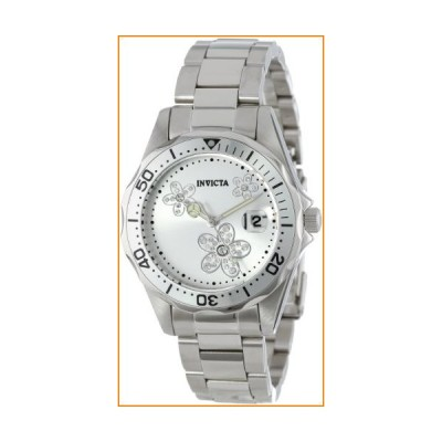Invicta Women's 12506 Pro Diver Silver Dial Crystal Accented Stainless Steel Watch【並行輸入品】