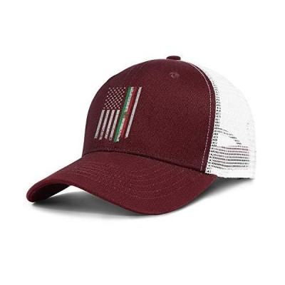 AIKYAN Mexican Flag American Mesh Baseball Caps Beach Sun Hat Snapback Golf Caps Trucker Dad Hats for Men Women
