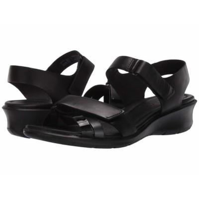 エコー ヒール シューズ レディース Felicia Ankle Strap Sandal Black/Black Dark Shadow Metallic/Black Cow Leather/Calf Leather/
