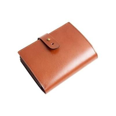 Dom Teporna Italy 二つ折り財布 本革 イタリアンレザー 財布 牛革 じゃばらカード入れ 大容量 wallet