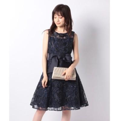 【エイミーパール(ドレス)】総刺繍オーガンジーリボン付ドレス