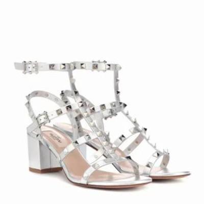ヴァレンティノ サンダル・ミュール Garavani Rockstud leather sandals Silver