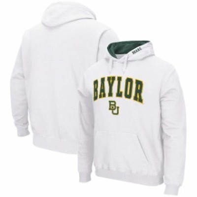 Colosseum コロセウム スポーツ用品  Colosseum Baylor Bears White Arch & Logo Pullover Hoodie