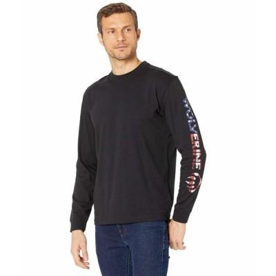 ウルヴァリン シャツ トップス メンズ Graphic Long Sleeve Tee - Sleeve Americana Black