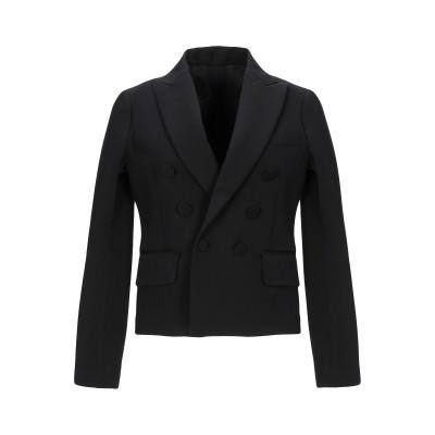 ディースクエアード DSQUARED2 テーラードジャケット ブラック 38 バージンウール 65% / レーヨン 32% / ポリウレタン 3%