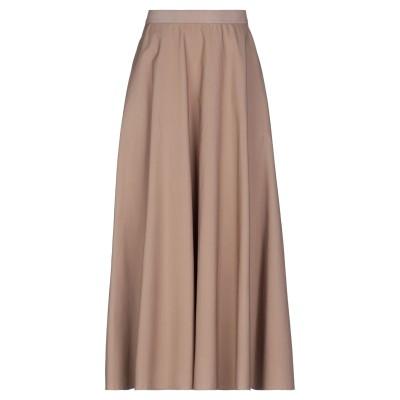PAOLA PRATA ロングスカート ライトブラウン 46 コットン 100% ロングスカート