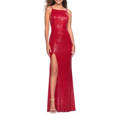 ラフェム レディース ワンピース トップス Sequin High-Neck Open-Back Sleeveless Gown