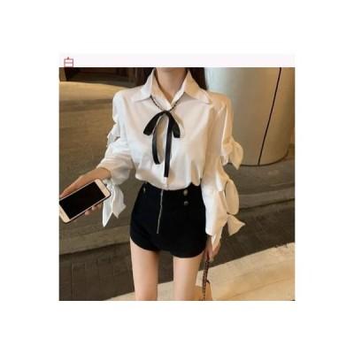 【送料無料】韓国風 デザイン 感 中空 長袖シャツ 女 夏 ラペル 何でも似合う シ | 364331_A63212-2940779