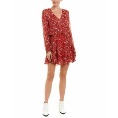 IRO イロ ファッション ドレス Iro Ruffle Shift Dress 44 Red