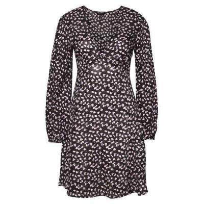 ニュールック ワンピース レディース トップス SPOT DITSY SEAM DETAIL MINI - Day dress - black