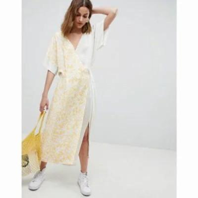 エイソス ワンピース ASOS WHITE mixed print dress Multi