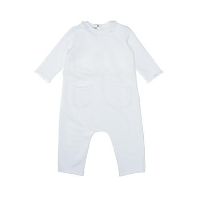 DE CAVANA 乳幼児用ロンパース ホワイト 9 コットン 96% / ポリウレタン 4% 乳幼児用ロンパース