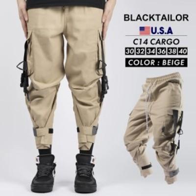 ブラックテイラー BLACKTAILOR カーゴパンツ ジョガーパンツ メンズ アンクル丈 C14 CARGO ベージュ