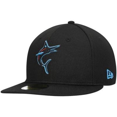 ニューエラ メンズ 帽子 アクセサリー Miami Marlins New Era Clubhouse Alternate Logo 59FIFTY Fitted Hat