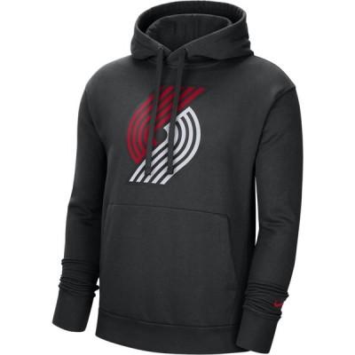 ナイキ Nike メンズ パーカー トップス NBA Club Pullover Fleece Hoodie Black/University Red/White