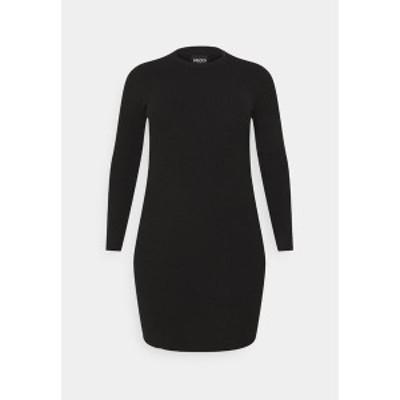 ピーシーズ カーブ レディース ワンピース トップス PCPENNY O NECK DRESS - Jumper dress - black black