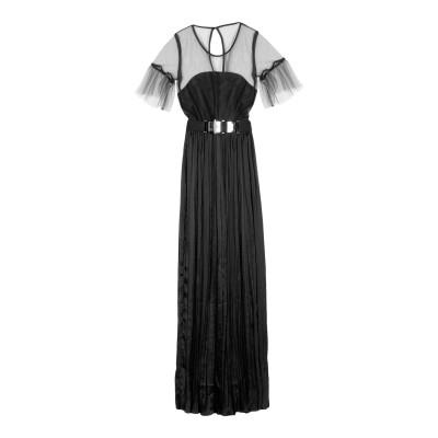ジジル JIJIL ロングワンピース&ドレス ブラック 44 100% ポリエステル ロングワンピース&ドレス