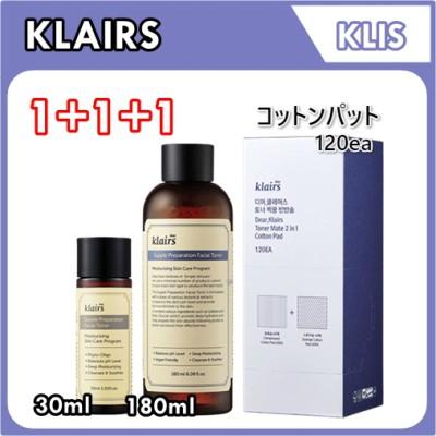 [クレアス/Klairs] サプルプレパレーションフェイシャルトナー 180ml + 30ml + 2in1コットンパットSupple Preparation Facial Toner 180ml