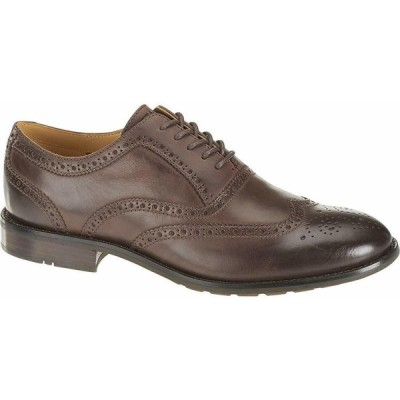 セバゴ メンズ・シューズ 紐靴 Sebago Men's Dresden Wing Tip, Dark Brown Shoes