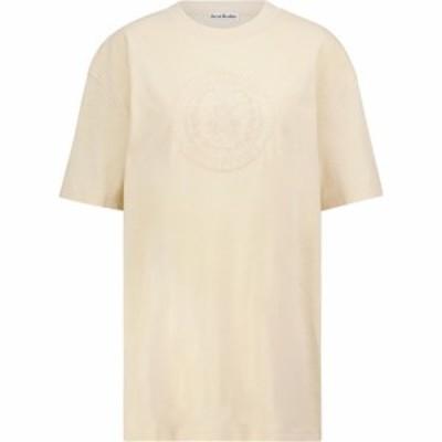 アクネ ストゥディオズ Acne Studios レディース Tシャツ トップス Embroidered cotton T-shirt Coconut White