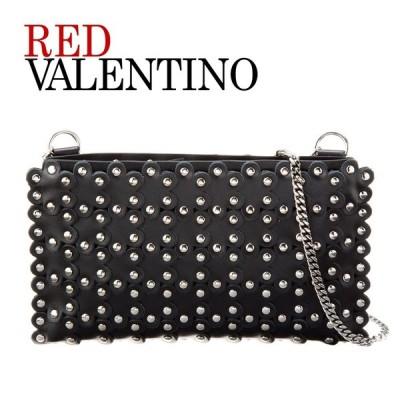 レッド ヴァレンティノ RED VALENTINO チェーンショルダーバッグ/ポシェット フラワー レザー QQ2P0A22 XIQ 0NO ブラック