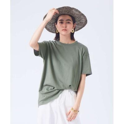 【カリテ】 《新色登場》リネンコットンアシメTシャツ レディース カーキ F qualite