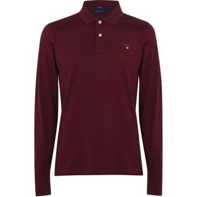 ガント Gant メンズ ポロシャツ トップス Long Sleeve Polo Shirt Port