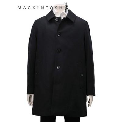 mackintosh マッキントッシュ ショート ステンカラー 黒コート DUNOON ダヌーン GM-1002F ブラック 総裏地 メンズアウター ウール Men's