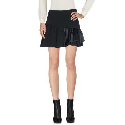リュー ジョー LIU •JO ミニスカート ブラック 40 レーヨン 99% / ポリウレタン 1% ミニスカート