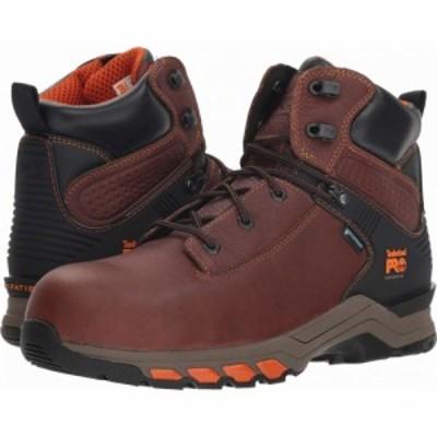 ティンバーランド Timberland PRO メンズ ブーツ シューズ・靴 Hypercharge 6 Safety Toe WP Brown