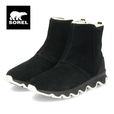 ソレル SOREL ブーツ レディース キネティックショート NL3128 ブラック 防水 スエード