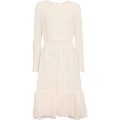 ジャンバティスタ バリ Giambattista Valli レディース パーティードレス ミドル丈 ワンピース・ドレス belted silk georgette midi dress Ivory