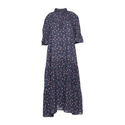 APIECE APART 7分丈ワンピース・ドレス ブルー 0 レーヨン 100% 7分丈ワンピース・ドレス