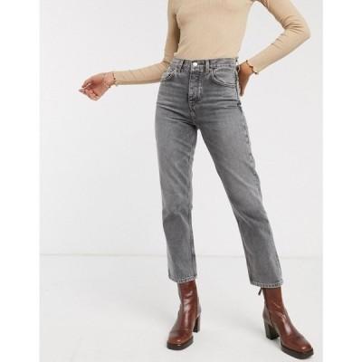 トップショップ Topshop レディース ジーンズ・デニム ボトムス・パンツ Editor straight leg jeans in grey グレー