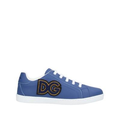 ドルチェ & ガッバーナ DOLCE & GABBANA スニーカー&テニスシューズ(ローカット) ブルー 38 牛革(カーフ) 100% スニーカ