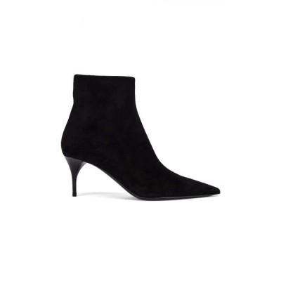 イヴ サンローラン Saint Laurent レディース ブーツ シューズ・靴 Lexi Zip Booties Nero