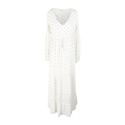 MAISON HOTEL ロングワンピース&ドレス ホワイト M レーヨン 100% ロングワンピース&ドレス