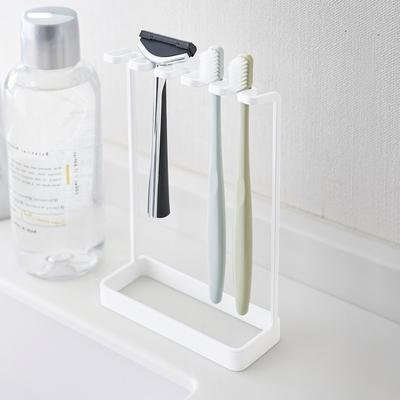 日本【YAMAZAKI】tower極簡立式牙刷架(白)★日本百年品牌★立式牙刷架/衛浴收納/浴室收納