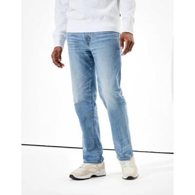 アメリカンイーグル デニムパンツ メンズ American Eagle AE Cozy AirFlex+ Relaxed Straight Jean Medium Standard