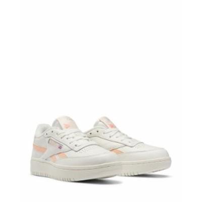 リーボック レディース スニーカー シューズ Women's Club C Double Sneakers White/Peach