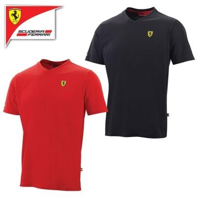 (フェラーリ/FERRARI)フェラーリ Vネック Tシャツ 半袖 メンズ F1 グッズ