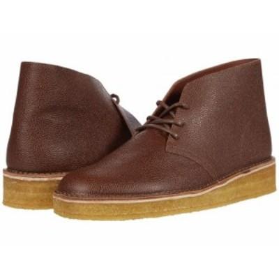 Clarks クラークス メンズ 男性用 シューズ 靴 ブーツ チャッカブーツ Desert Coal Tan Scotch Grain【送料無料】