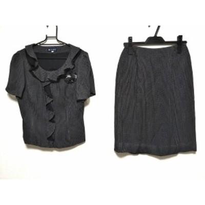 エムズグレイシー M'S GRACY スカートセットアップ サイズ38 M レディース 美品 - 黒×白 コサージュ付【中古】20210124
