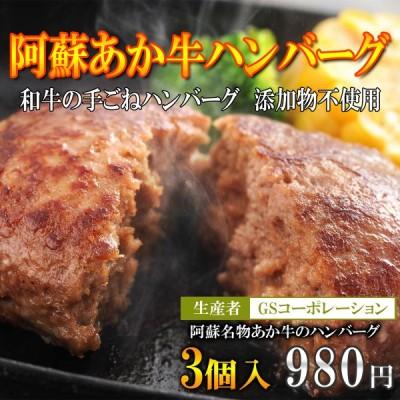 阿蘇のブランド和牛あか牛の手作りハンバーグ/GSコーポレーション